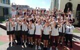 Emanuel School students celebrate graduating year 12.