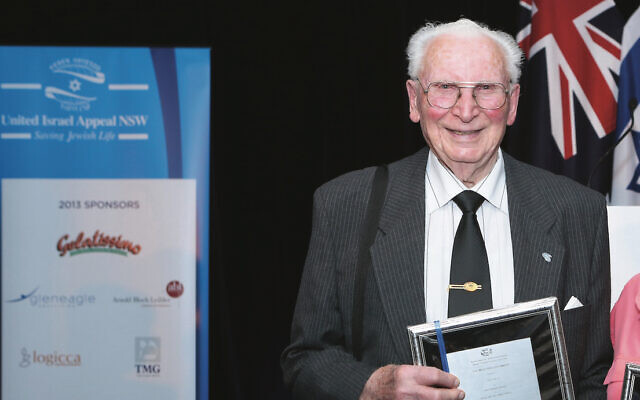 Sam Steif being honoured by UIA in 2013.