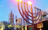 A previous Chanukah celebration in Federation Square. Photo: Peter Haskin