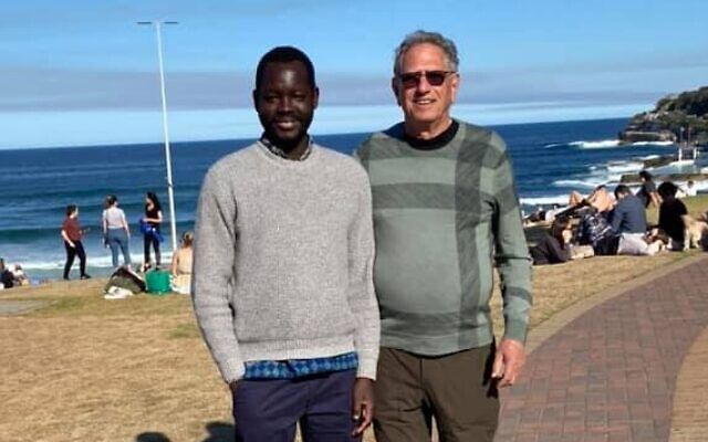 From left: Mawat Majok and Peter Halas.