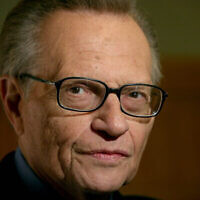 """Larry King attends a screening of the environmental documentary """"Planet in Peril,"""" Monday, Oct. 8, 2007, in New York. (AP Photo/Diane Bondareff)"""