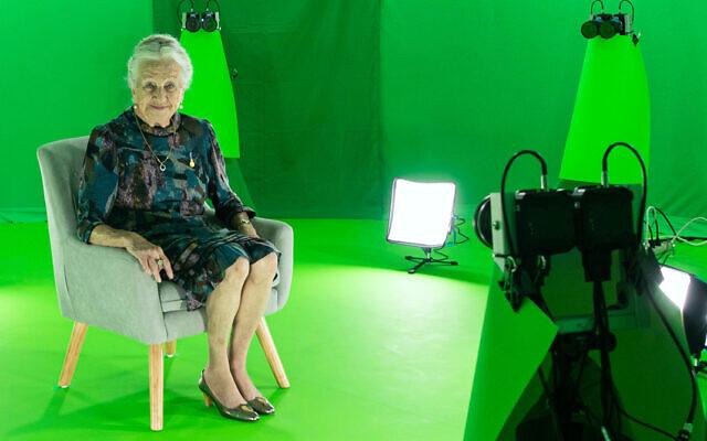 Holocaust survivor and project participant Olga Horak.