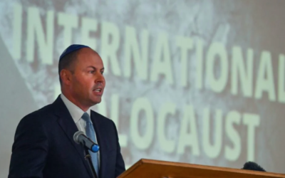 Josh Frydenberg at an event to mark International Holocaust Remembrance Day. Photo: AAP/Mick Tsikas