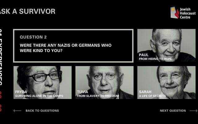 Screengrab from the Ask a Survivor program.