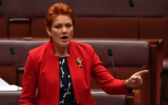 One Nation leader Senator Pauline Hanson. Photo: AAP image/Mick Tsikas