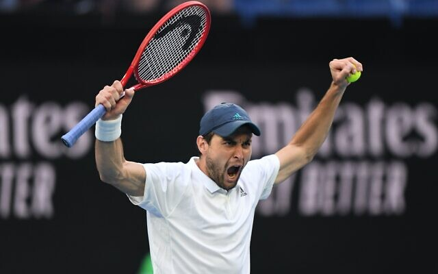 Aslan Karatsev at Melbourne Park. Photo: Tennis Australia/Morgan Hancock
