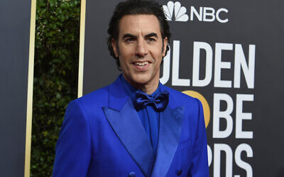 Sacha Baron Cohen arrives at the 77th annual Golden Globe Awards at the Beverly Hilton Hotel on Sunday, Jan. 5, 2020, in Beverly Hills, Calif. (Photo by Jordan Strauss/Invision/AP)