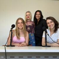 Front: Order in the House producers Julia Meltzer and Abigail Kaplan. Back: hosts Lara Czysnok and Pnina Hagege.