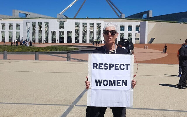 Ronni Kahn outside Parliament House in Canberra.