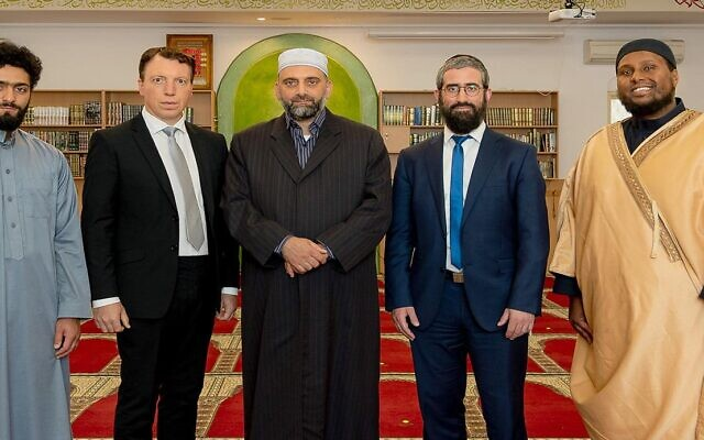 From left: Bakr Hawari, Dvir Abramovich, Sheikh Abdullah Hawari, Rabbi Yaakov Glasman and Imam Saeed Warsama Bulhan.
