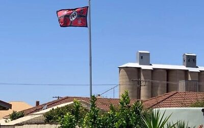 A Nazi flag was seen flying in the Victorian town of Beulah in January, 2020.