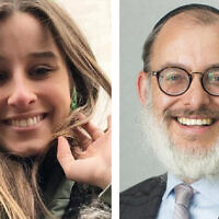 Chanel Contos and Moriah College principal Rabbi Yehoshua Smukler.