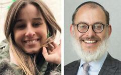 Chanel Contos and Moriah College principal Rabbi Yehoshua Smukler.