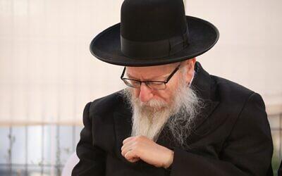 Yaakov Litzman. Photo: David Cohen/Flash90
