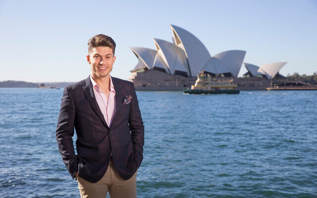 Josh Piterman at the Sydney Opera House, where a new version of The Phantom of the Opera will open later this year.