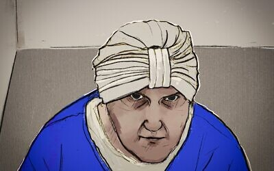 Malka Leifer, as sketched in court on Friday. Image: Courtesy Nine