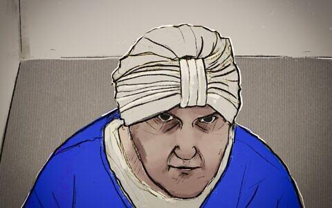 Malka Leifer, as sketched in Melbourne Magistrates' Court. Image: Courtesy Nine