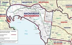 The proposed redistribution of Macnamara.