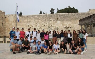 Participants on the Bnei Akiva Limmud program in Israel last month.