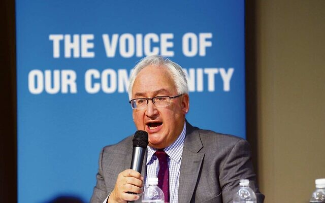 Michael Danby at The AJN/Zionism Victoria's federal election debate in 2016. Photo: Peter Haskin