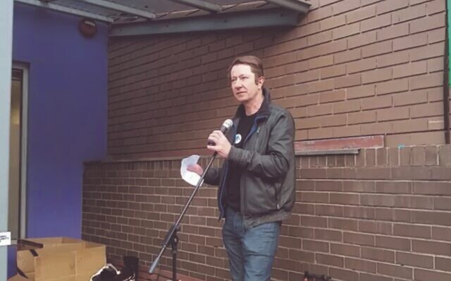 Independent Socialist Councillor Stephen Jolly. Photo: Screenshot, Victorian Socialists video, Facebook