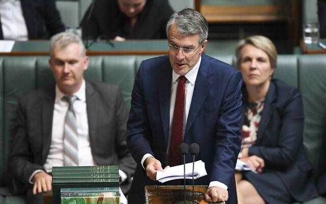 Mark Dreyfus speaking in Parliament. Photo: AAP Image/Lukas Coch