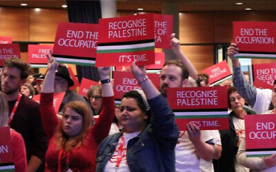 Attendees at last Sunday's Qld ALP meeting. Photo: Screengrab