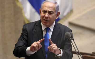 Benjamin Netanyahu. Photo: Ariel Schali/AP Photo