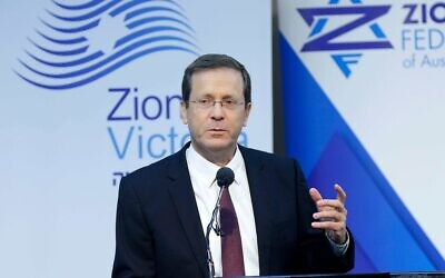 Isaac Herzog during a visit to Australia in 2018. Photo: Peter Haskin
