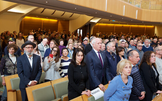 Participants at the rally held at Central Synagogue. Photo: Giselle Haber