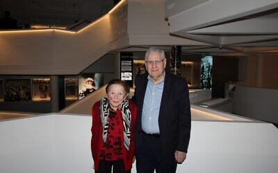 Yvonne Engelman with Norman Seligman at the Sydney Jewish Museum. Photo: Gareth Narunsky