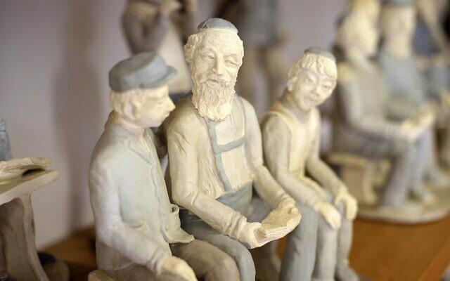 Sarah Saaroni's sculptures. Photo: Peter Haskin