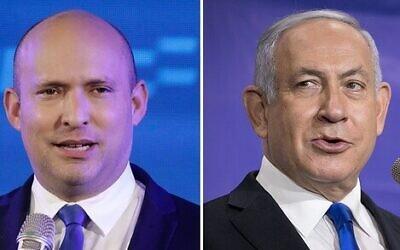 Naftali Bennett and Benjamin Netanyahu.