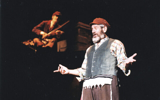 Chaim Topol performs in Fiddler on the Roof during his 1998 Australian tour. Photo: AJN file/Nigel Clements