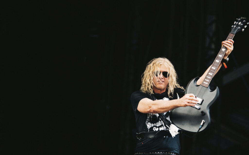 Guitarist David Lowy performing with his band, The Dead Daisies. Photo: Oliver Halfin
