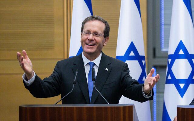 Newly inaugurated Israeli President Isaac Herzog. Photo: Twitter