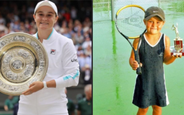 Now and then: Ash Barty.