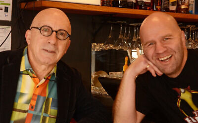 Jewish comedians Ben Horowitz (right) and Jack Levi, for whom The Elliot Goblet Bar is named.