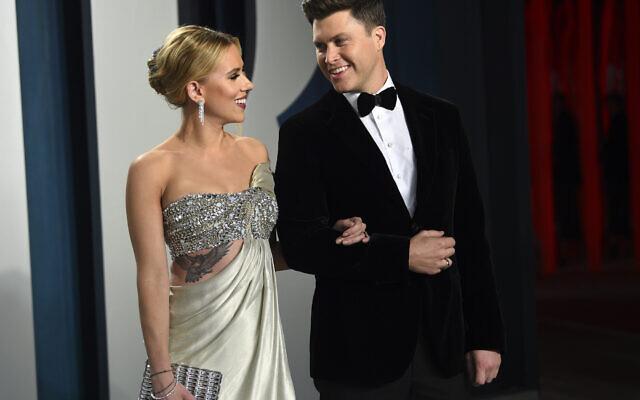 Scarlett Johansson and Colin Jost in February 2020. Photo: Evan Agostini/Invision/AP, FIle