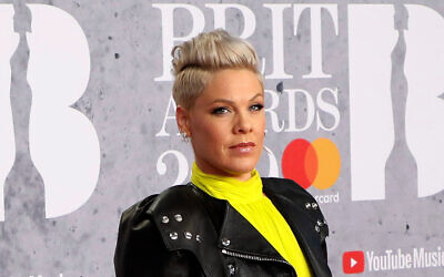 Singer Pink poses for photographers upon arrival at the Brit Awards in London. Photo: Vianney Le Caer/Invision/AP, File