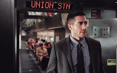 Jake Gyllenhaal in a scene from 2011 movie Source Code.