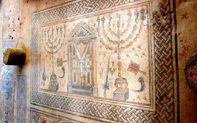 Fourth century synagogue floor, Hamat Gader, Tiberias. Photo: Wikipedia