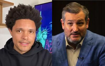 Trevor Noah (Photo: YouTube screenshot) and Ted Cruz (Photo: AP Photo/Sebastian Scheiner)