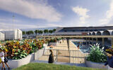 An artist's rendering of the new Hakoah White City.