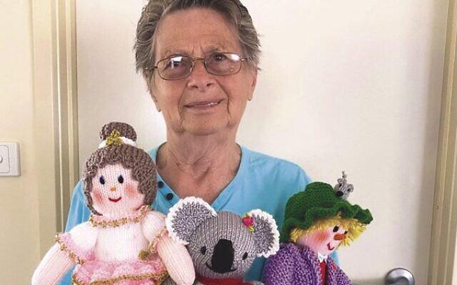 Elizabeth Risman with her dolls.