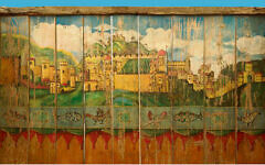 Painted 19th century German succah boards, Israel Museum. Photo: Wikimedia Commons