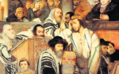 Kol Nidrei in the synagogue, by Maurycy Gottlieb, 1878. Photo: Wikipedia