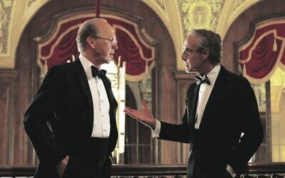 Michael Keaton (left) and Stanley Tucci in Worth. Photo: Netflix