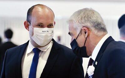 Naftali Bennet (left) and Yair Lapid, Photo: Marc Israel Sellem/Pool
