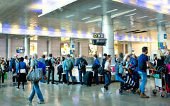 Travellers at Ben-Gurion Airport in Tel Aviv in 2018. Photo: Flash90